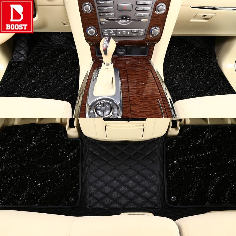 Alfombras de coche Boost para Toyota Rush Vanguard Voxy Hilux Highlander a prueba de agua agregar almohadillas de pie de coche de bobina de seda
