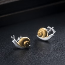 VLA 925 Silver Creative Cute Snail Earrings Women's 2021 New Simple Animal Jewelry Birthday Gift For