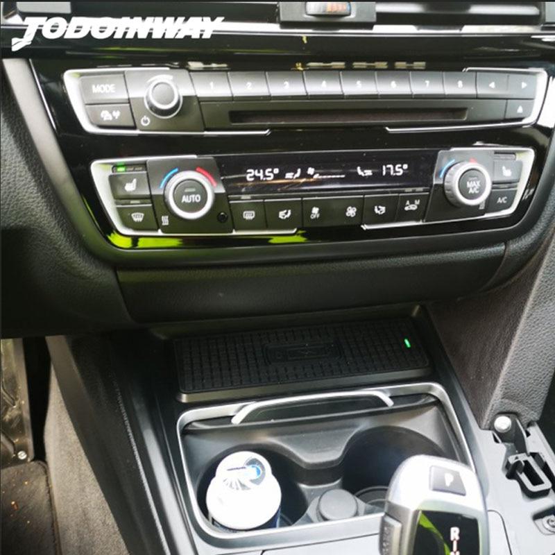 مستقبل شاحن لاسلكي 15 واط ، لوحة شحن سريعة ، ملحقات وحدة التحكم المركزية ، شاحن هاتف لسيارات BMW 3 F30 F31 F32 F34 F36 F82
