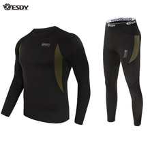 ESDY Thermal Underwear Sets Unisex Underwear Fleece Quick Drying Underwear trends, cycling, extreme