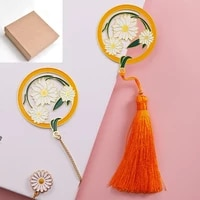 four seasons flower series bookmarks backpack pendants stationery decorations gifts for girlfriends roses ginkgo tulips gift box