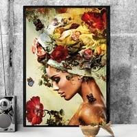 Toile dart mural retro minimaliste pour femmes  affiche et peinture sur toile imprimee  image decorative  decoration de salon  Art de la maison