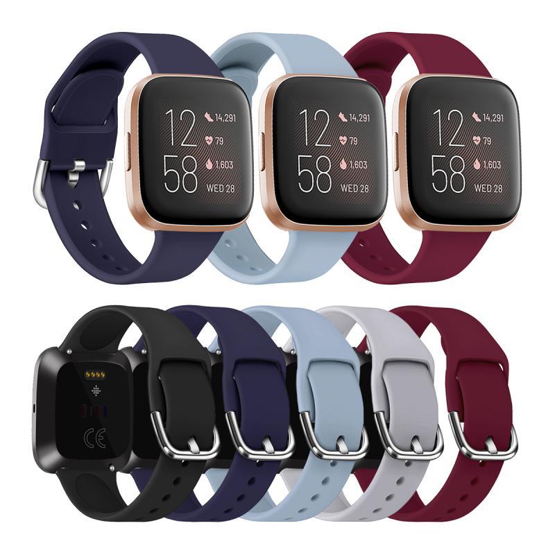 Pulseira de relógio de silicone para fitbit versa 2 banda relógio inteligente wirst pulseira de borracha de substituição para fitbit alta banda