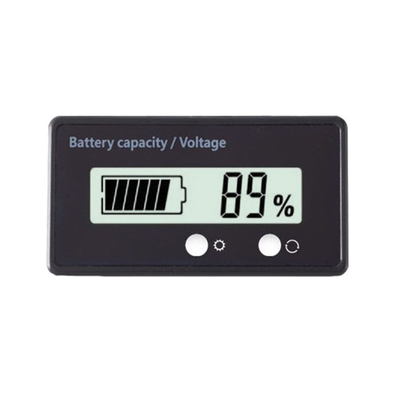 12V/24V/36V/48V LCD plomo ácido Indicador de capacidad de batería de litio voltímetro voltaje motocicleta eléctrica batería de Scooter Tester