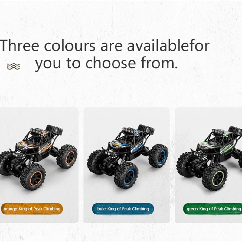 2.4G 4WD Remote Control Truck RC Racing Car Shock Resistant Buggy off load climbing  Car With flash light Child kid gift playing enlarge