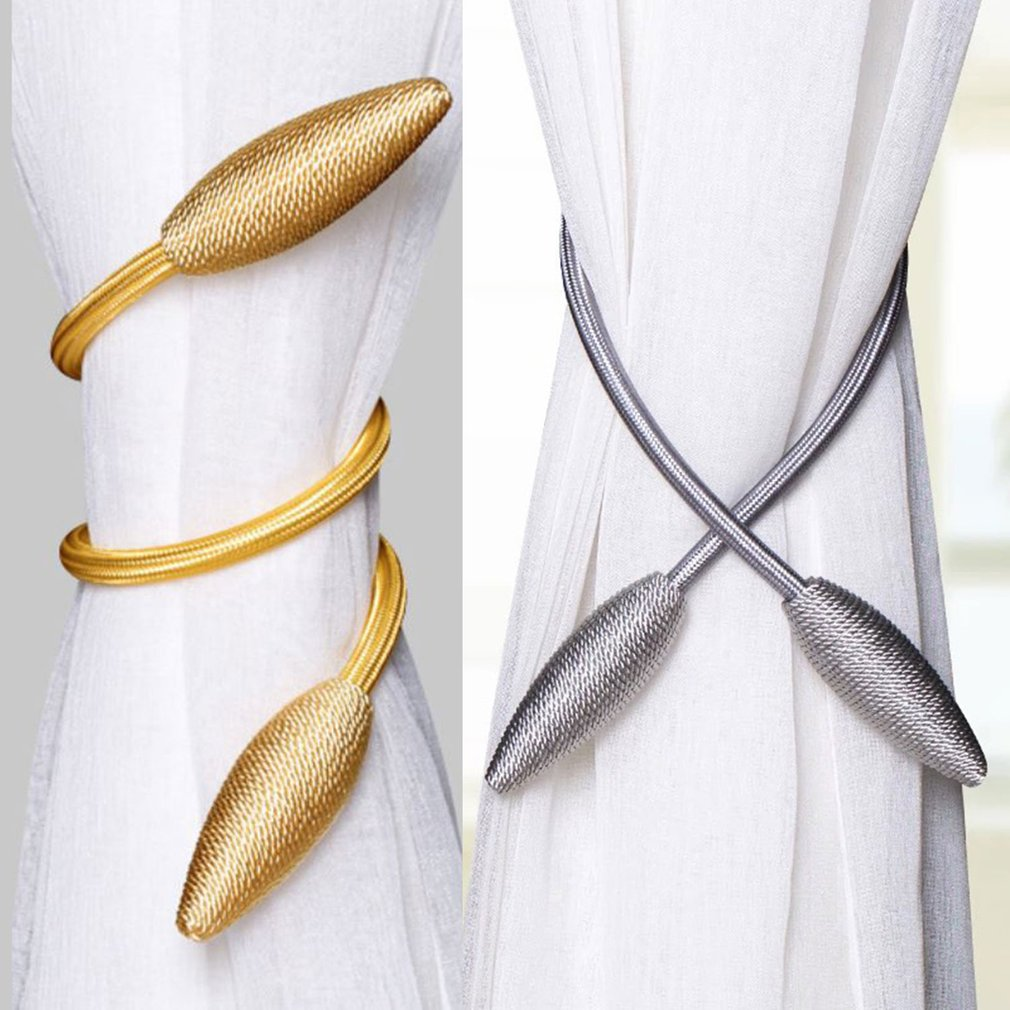 Arbitrary Shape Strong Curtain Tiebacks Alloy Hanging Belts Ropes Curtain Holdback Curtain Rods Accessoires Curtain Ring