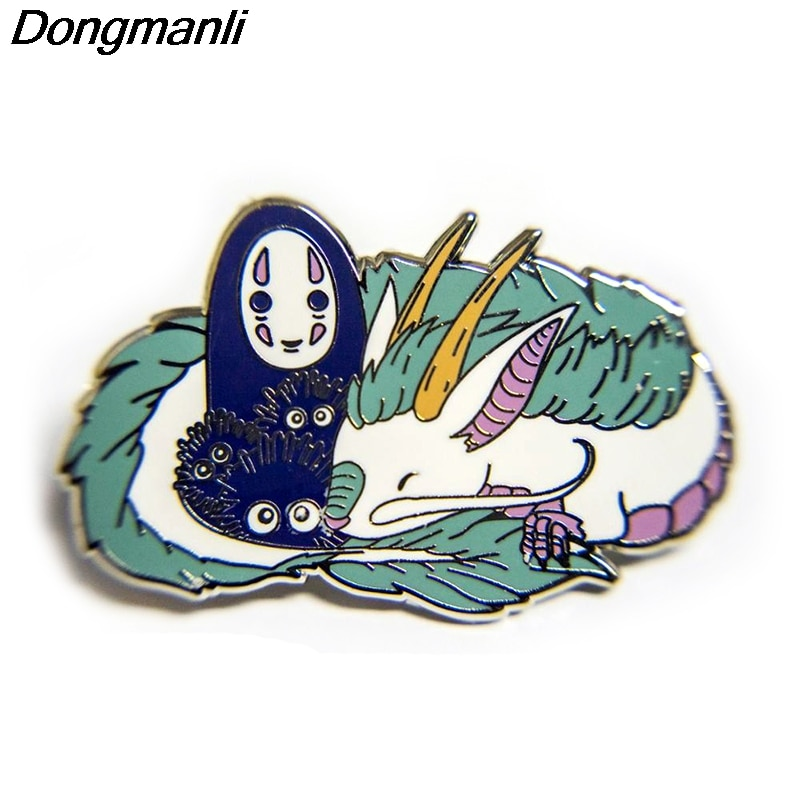 P5151 dragón Dongmanli Pines de esmalte duro insignia mochila Collar solapa mujeres hombres joyería de Anime