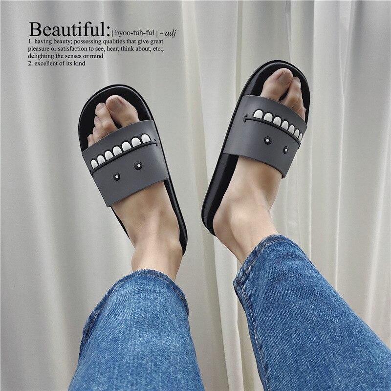 Slippers Men's Casual Home Summer Indoor Bath Cartoon Non-Slip Waterproof Sandals Comfortable Outdoo