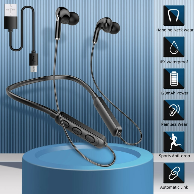 Bluetooth Earphone Wireless Sports Neckband Earphones Stereo Earbuds Music Headphones With Mic For Samsung Iphone Huwei enlarge