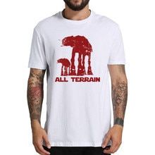 All Terrain Star Wars T-Shirt Shorts Sleeve Tees Adult Natural 100% Cotton Concert 3D T Shirts Promotion Hombre Shirt On T Shirt