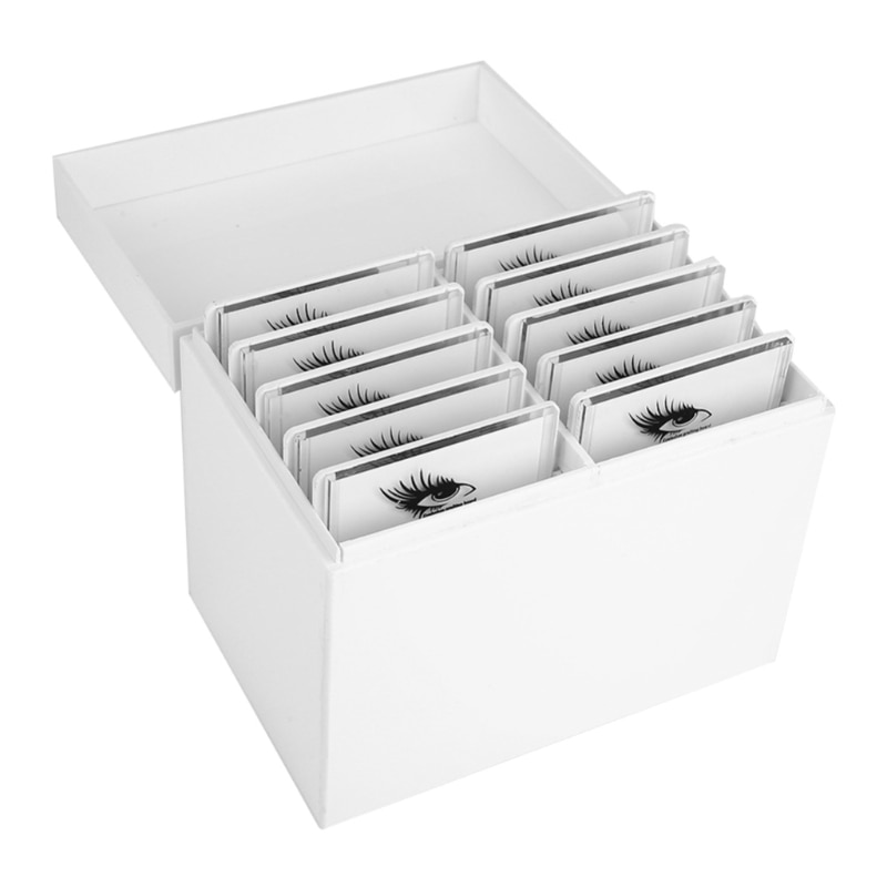 094E 10 طبقات رمش صندوق تخزين ماكياج المنظم رمش الغراء البليت جلدة حامل تطعيم رمش تمديد أداة