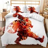 christmas decoration santa snowman bed cover set duvet cover with pillowcases bedclothes comforter bedding set home decor 61144