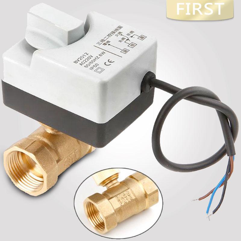 AC220V DN15 DN20 DN25 النحاس الكهربائية صمام 2-الطريقة بمحركات الكرة صمام ثلاثة أسلاك الكهربائية Actuato مع دليل التبديل