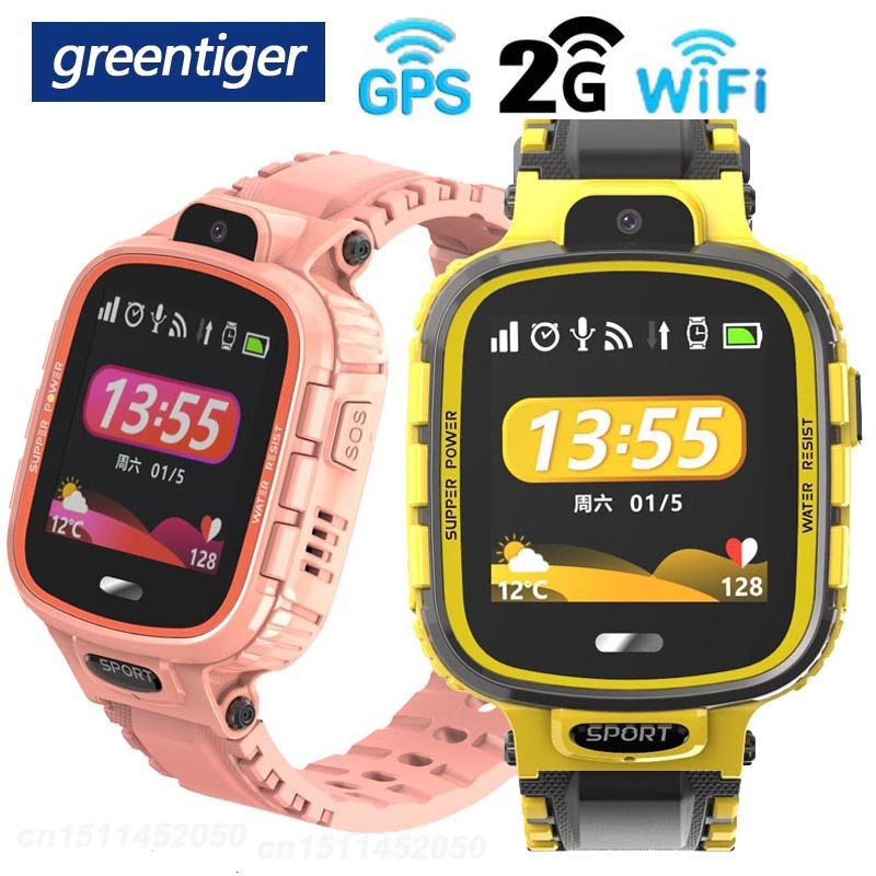 Reloj inteligente Greentiger TD26 para niños, IP67, impermeable, GPS, WIFI, rastreador de bebé, cámara inteligente para niños, monitoreo SOS, reloj de posicionamiento