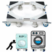 Lodówka pralka stojak podłogowy uchwyt 46-65CM ruchomy wózek uchwyt mocujący stojak maszyny do prania