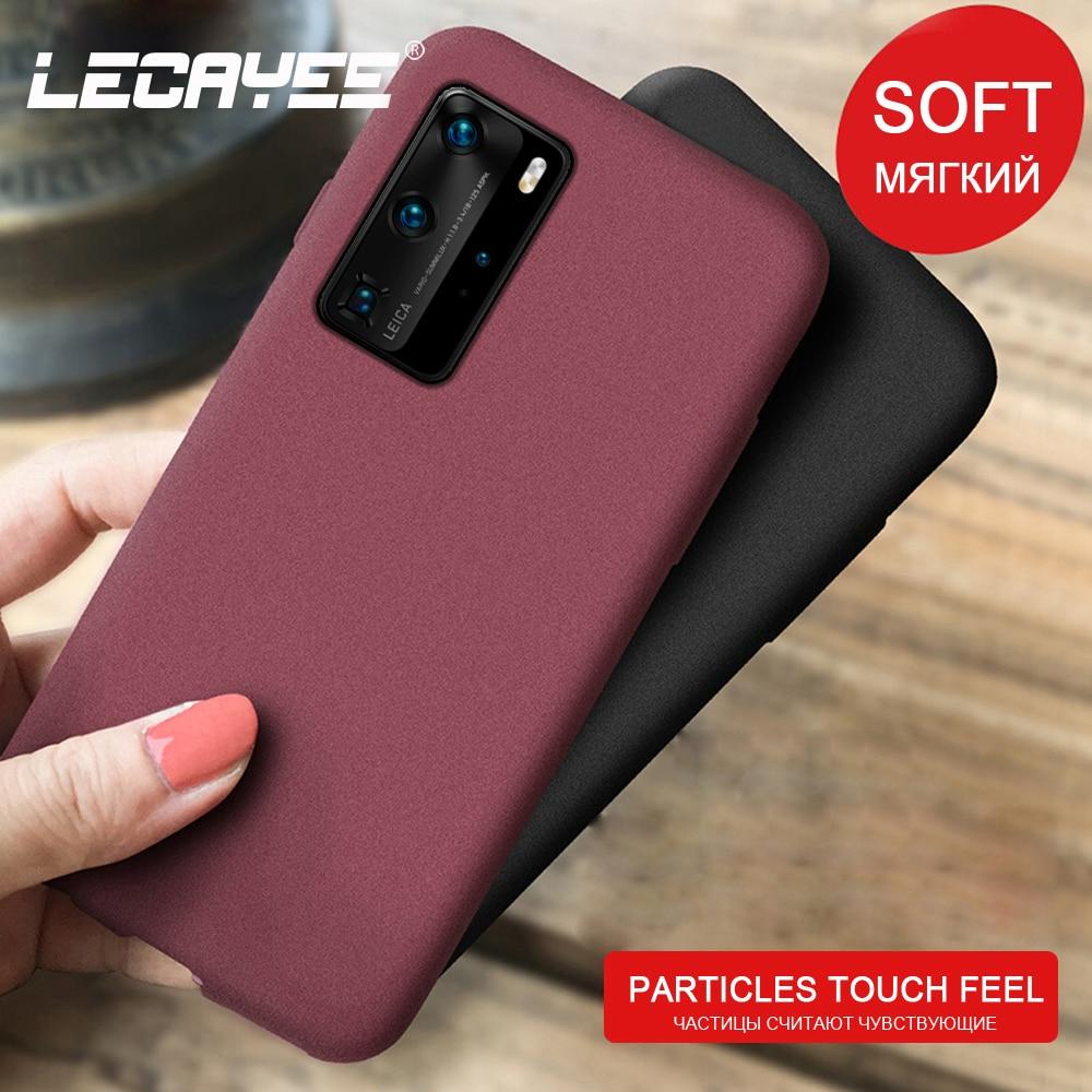 Funda de teléfono de silicona mate granulada para Huawei P40 lite P40 Pro + P30 P20 P10 P9 Plus P8 P Smart Z 2019 Nova 7i 7 SE 5i 5Z 4 3 2