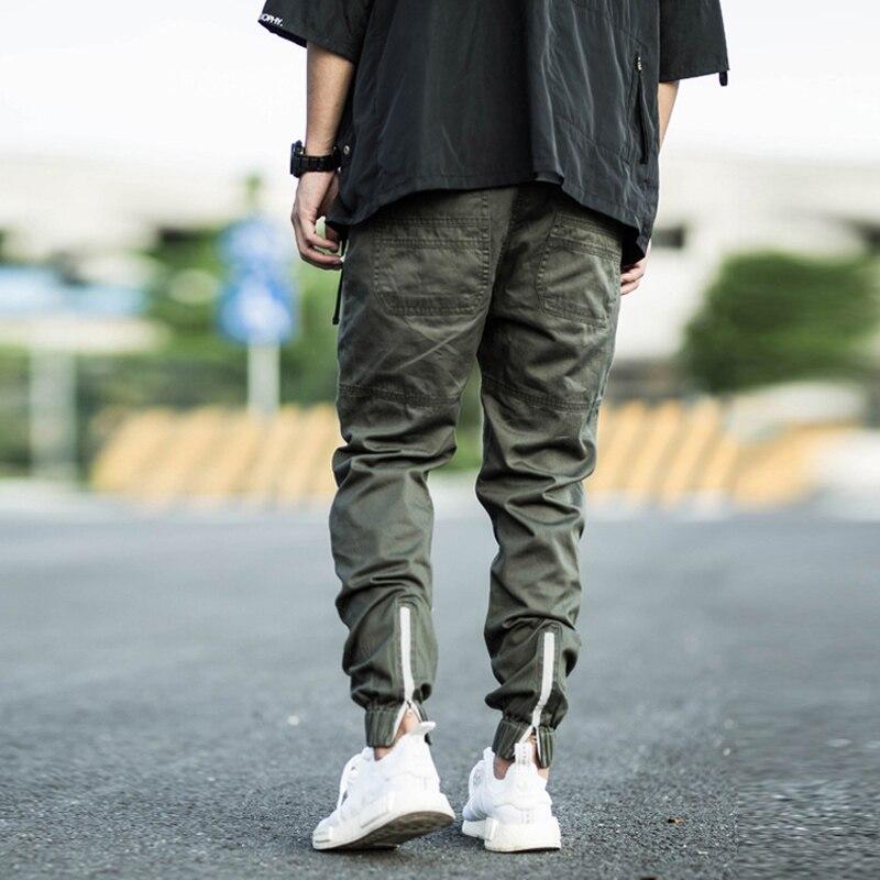 Джинсы мужские свободного покроя, Дизайнерские повседневные брюки-карго с соединением внизу, на молнии, Джоггеры в стиле хип-хоп