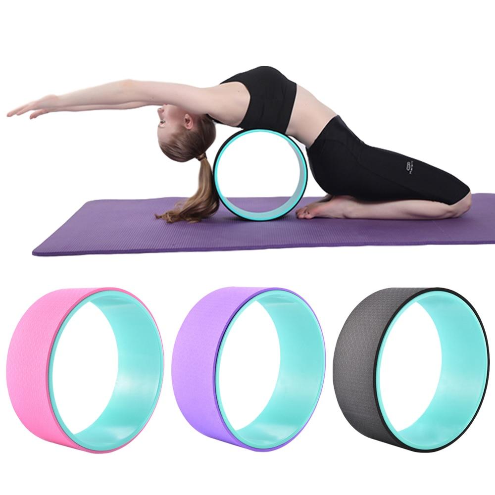 TPE Yoga Pilates Circle Yoga Wheel Fitness Roller Back Training Tool Slimming Magic Waist Shape Body Building Pilates Ring