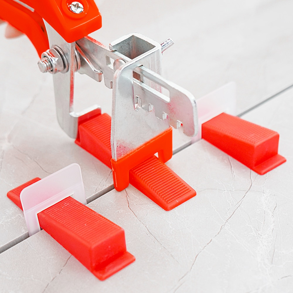 Tile leveling system, tools 1mm / 1.5mm / 2mm / 2.5mm / 3mm, 200 bases + 200 inserts + 1 pliers,401 combination kits.