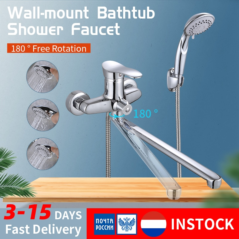 Olinia bañera Sistema de ducha de Olinia conjunto de cabezal de ducha mezclador de ducha grifo de baño con grifo de ducha de agua fría y caliente mixerOL8096
