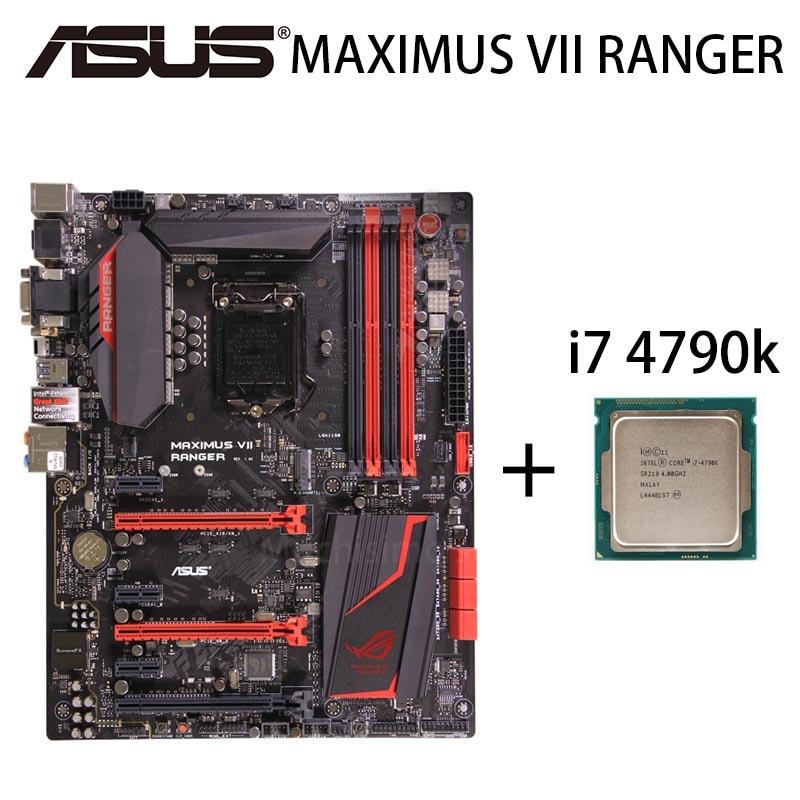 LGA 1150 Asus MAXIMUS VIII RANGER Placa base + CPU i7 4790K...