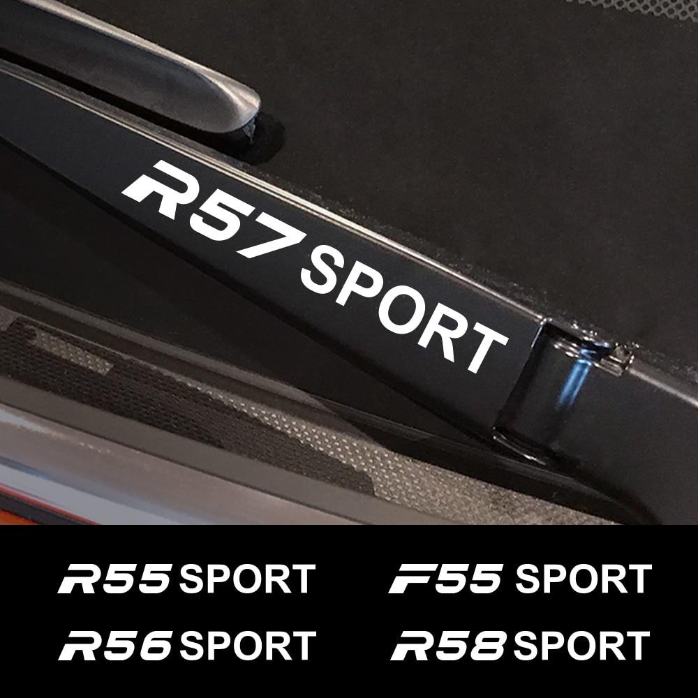 4 Uds coche pegatina para Mini Cooper F56 F54 F57 F55 F60 R50 R52 R53 R55 R56 R57 R58 R59 R60 R61 de ventana etiqueta de limpiaparabrisas Accesorios