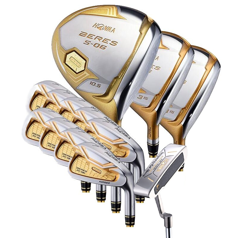 Golf club HONMA beres S-06 Men's 4 star full set golf club driver + fairway wood + iron + putter + head cover without bag