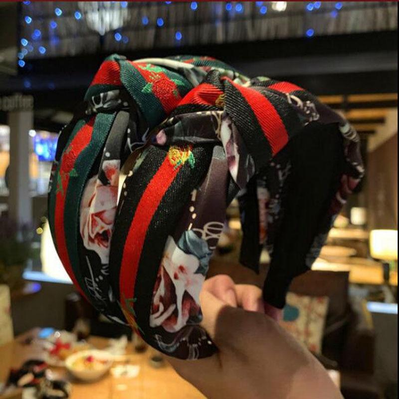 TWDVS, cinta de cabello con nudo impreso para mujer, bandas para el viento de la Universidad británica, horquilla lateral, accesorios para el cabello de lavado de cara deportiva