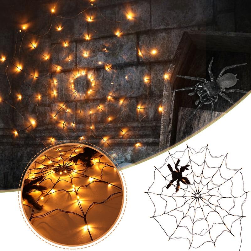 aranha web luzes a prova ddurable agua duravel especial assustador halloween luzes