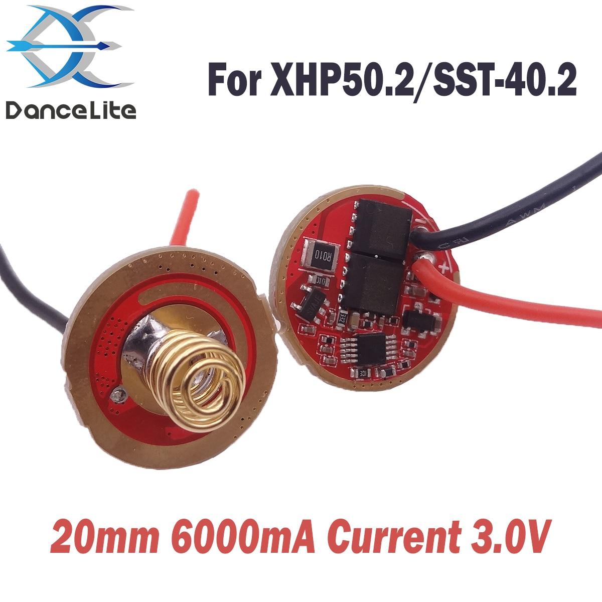 1 unidad 20mm Super alta corriente de trabajo de 3,7 ma de entrada V placa de circuito de Controlador LED para xhp502/ SST-40.2