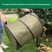 Yard 10 gallons libération boucle sac de jardinage en plein air conteneur pliable maison avec poignées déchets Portable poubelle à feuilles