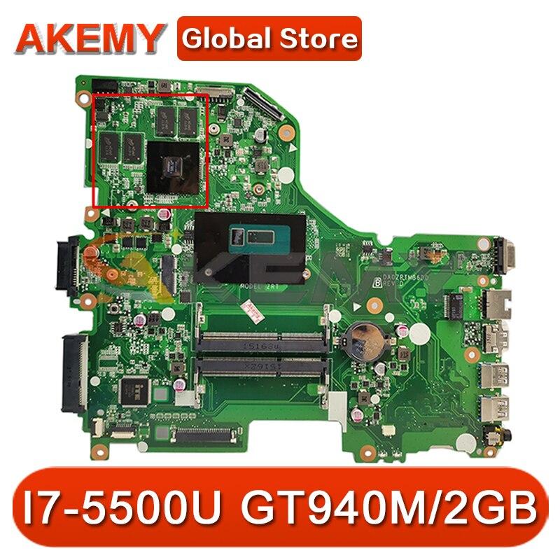E5-573G اللوحة الرئيسية لشركة أيسر E5-573G اللوحة الأم لأجهزة الكمبيوتر المحمول E5-573 DA0ZRTMB6D0 مع وحدة المعالجة المركزية SR23W I7-5500U وحدة معالجة الرسومات ...