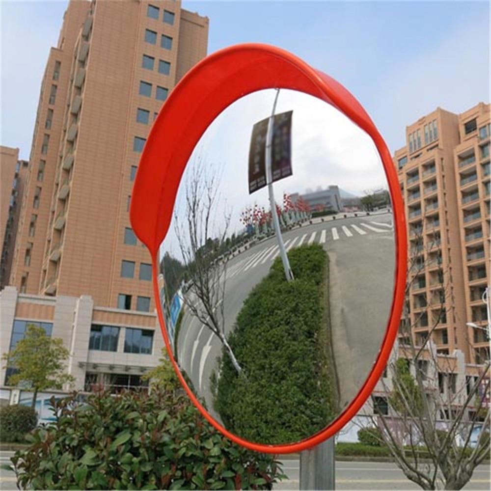 30cm Wide Angle Security Curved Convex Road Mirror Traffic Driveway Traffic Signal Roadway Safety Mirror
