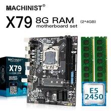 E5 X79 LGA 1356 kit de carte mère avec processeur Intel Xeon E5 2450 8 go (2*4 go) 1600MHz DDR3 ECC REG RAM mico-atx NVME M.2 SSD