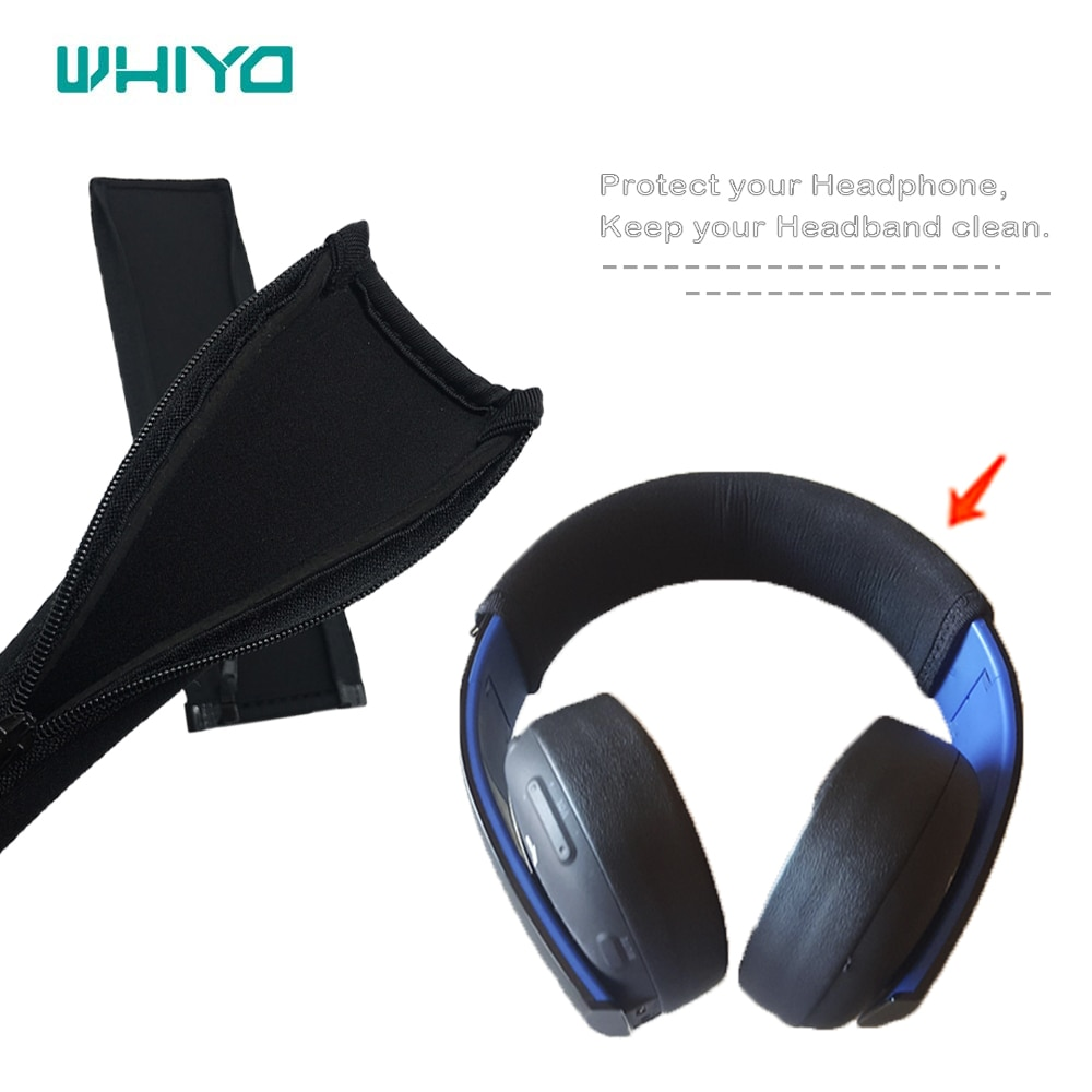 Whiyo 1 pcs of Bumper Head Pads for PS4 PS3 PS Vita for Sony PlayStation Gold Wireless Headbands Cus