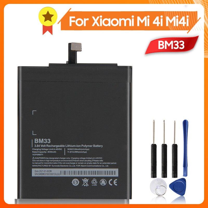 Аккумулятор BM33 для телефона Xiao mi 4i Mi4i BM33 3120 мАч, сменный аккумулятор + инструмент