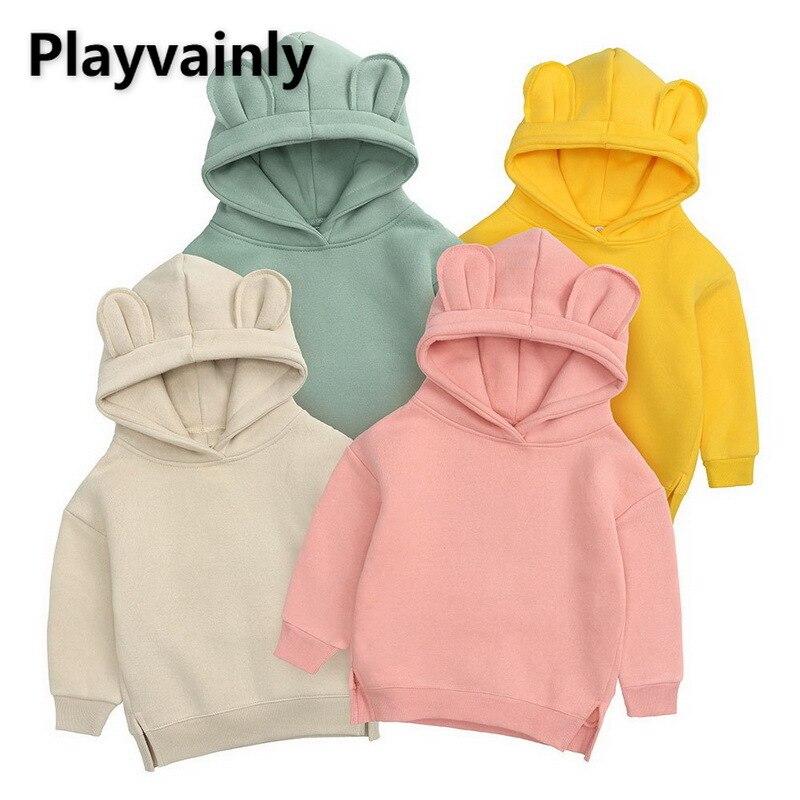 Children Hoodie Coat 2021 Baby Boys Girls Leisure Bear Ears scratch fleece hoodie Boy Girl Clothes E100204