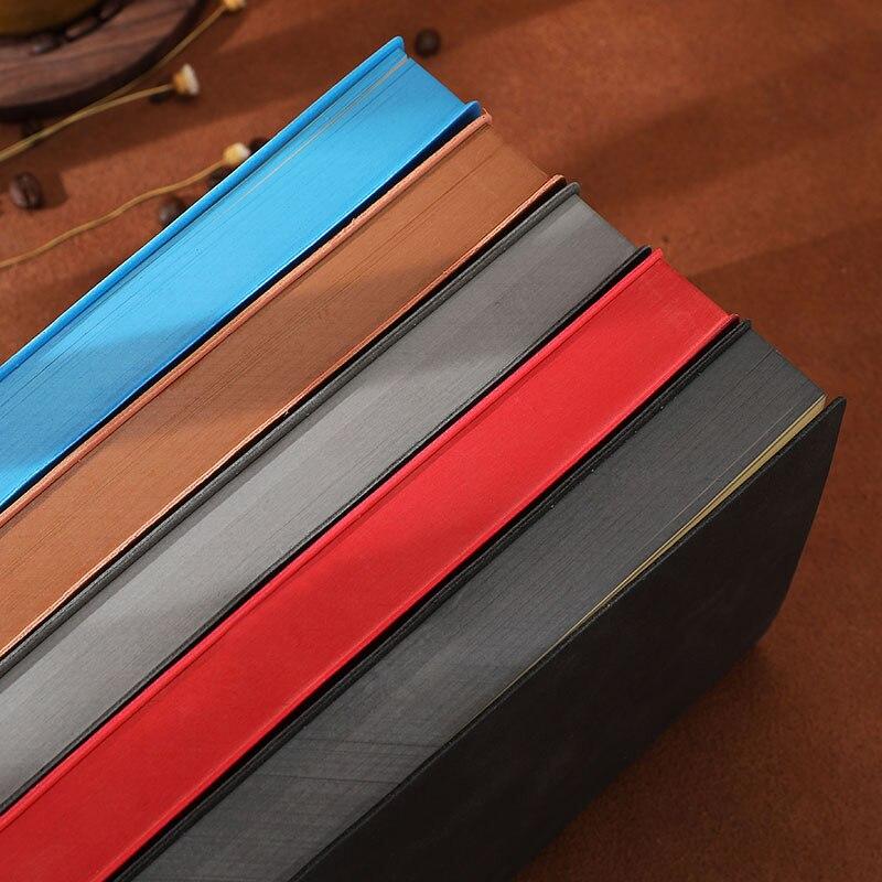 Caderno clássico engrossar 360 páginas diário a5 & a6 tamanho elegante colorido lado diário padrão alinhado páginas 80 gsm planejador de couro