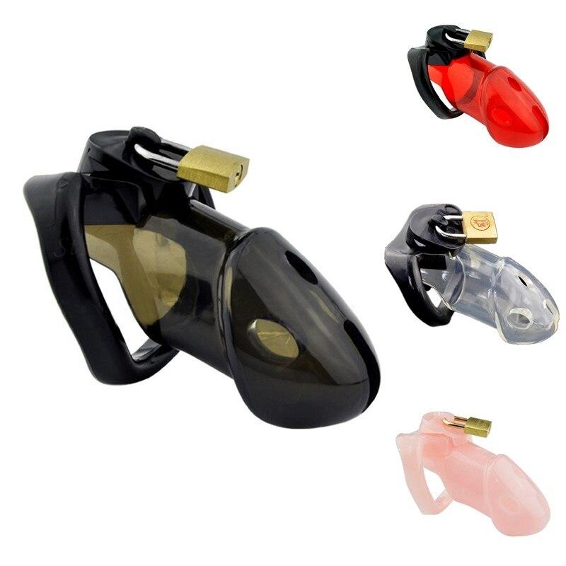 جهاز العفة للذكور مع 3 حلقات إضافية للقضيب أقفاص القضيب قفل القضيب ، حزام العفة الرقيق عبودية ألعاب جنسية للرجال ألعاب الكبار