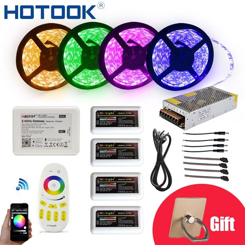 HOTOOK WIFI LED Strip12V Flexible 5050 300LED RGBW IP65 impermeable 20M aplicación LED cuerda regulable LED cuerda techo Kit de cinta