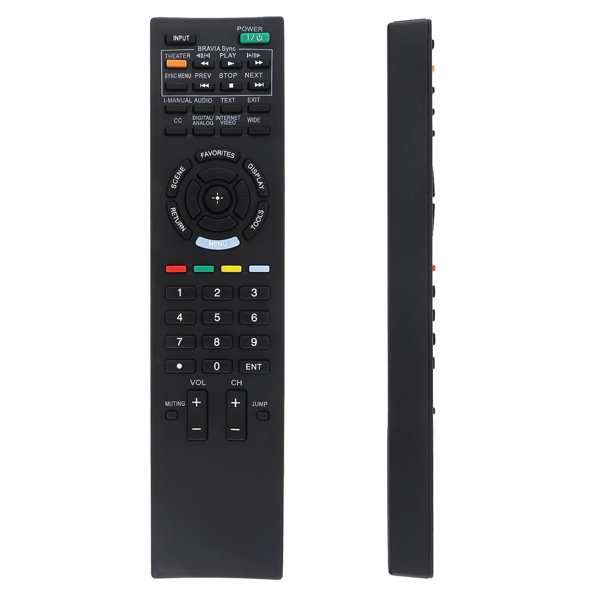 Mando a distancia Universal negro ABS 433MHz de repuesto IR TV con Larga Distancia de Transmisión de 10M apto para SONY RM-ED022 TV
