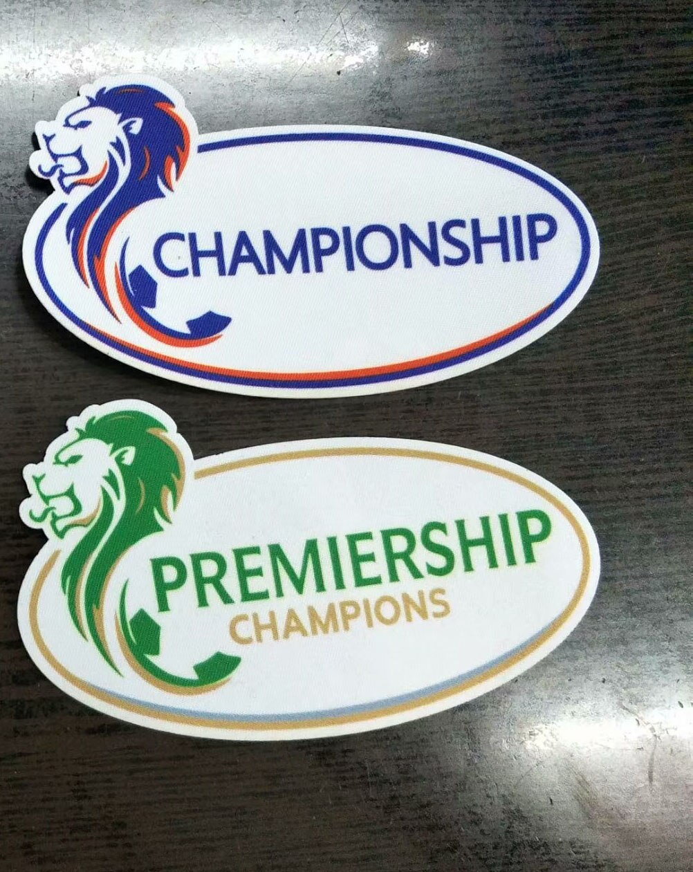 2020 Scottish Champions Patch Heat Transfer Soccer Badge