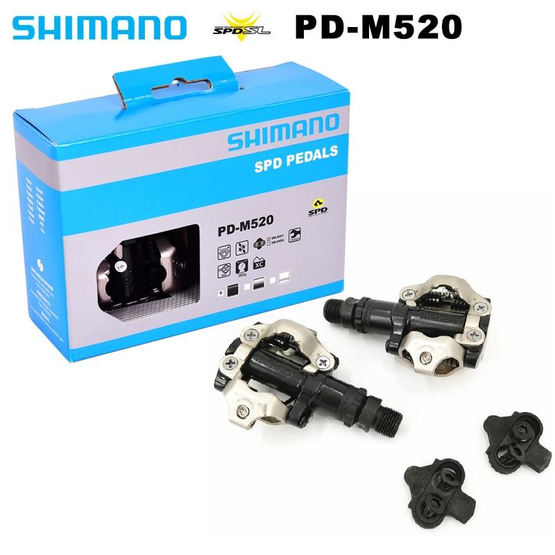Pedal de autosujeción M520, piezas de pedales de bicicleta de carretera SPD...
