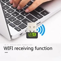 Mini 150Mbps Wi-Fi USB Adapter Wireless Network Card Adapter Portable WiFi Dongle for Desktop Laptop PC Wi-Fi Receiver