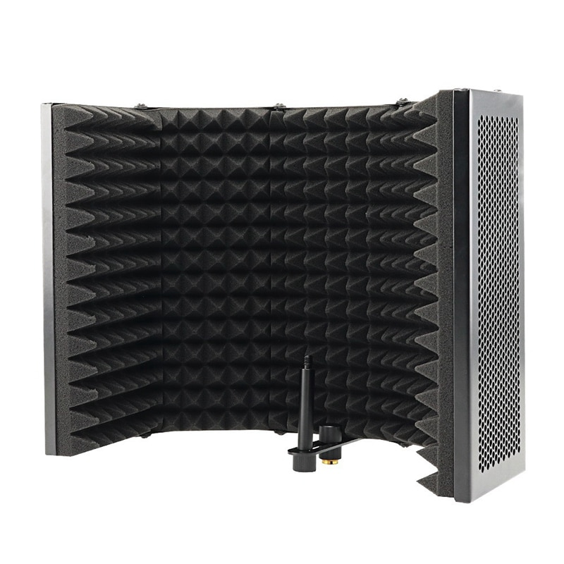 FULL-5 Panel Foldable Studio Microphone Isolation Shield Recording Sound Absorber Foam Panel