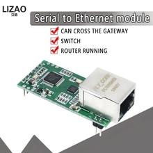 Fs100p USR TCP232 T2 minúsculo serial ethernet conversor módulo serial uart ttl para ethernet tcpip módulo suporte dhcp e dns Circuitos integrados    -