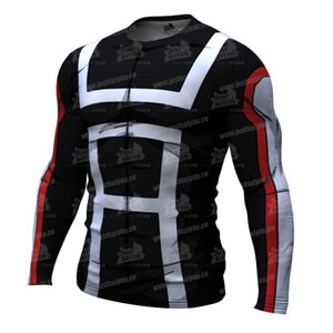 2020 Autumn New 3D Printed T-shirt Compression Tight Jerseys Men's Fitness Running Shirt Breathable Long Sleeve Sport Gym Tops