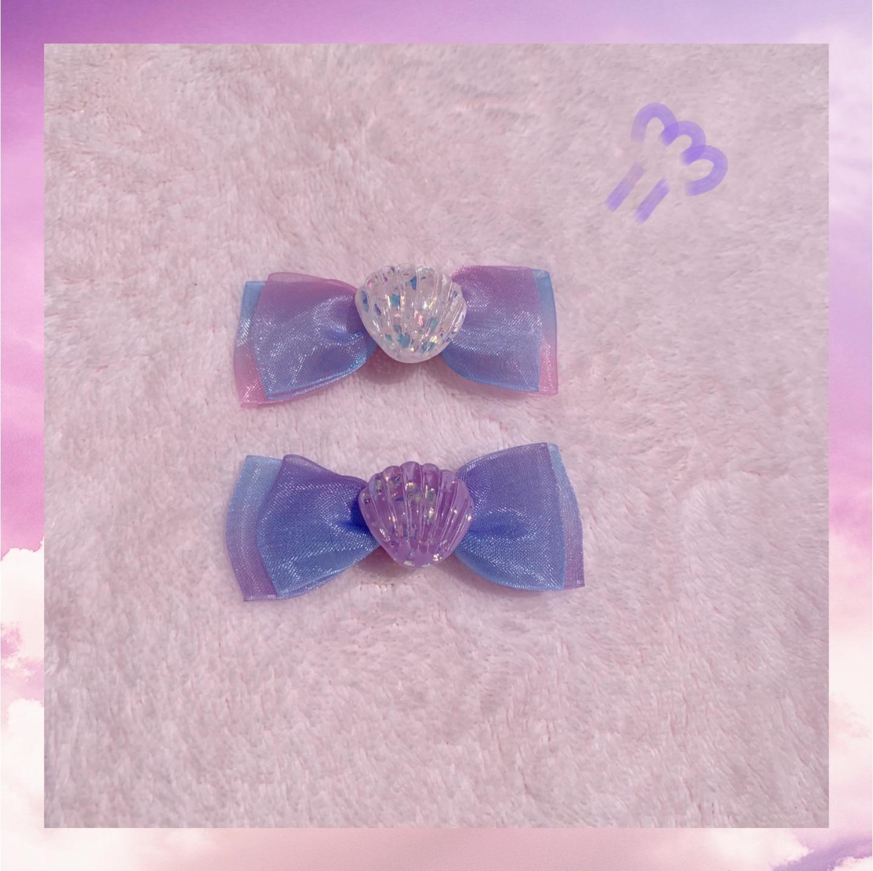 2pcs/lot Handmade Hair Clips For Women Girls Shell Purple Hairpins Sweet Beach Headwear Hair Accessories