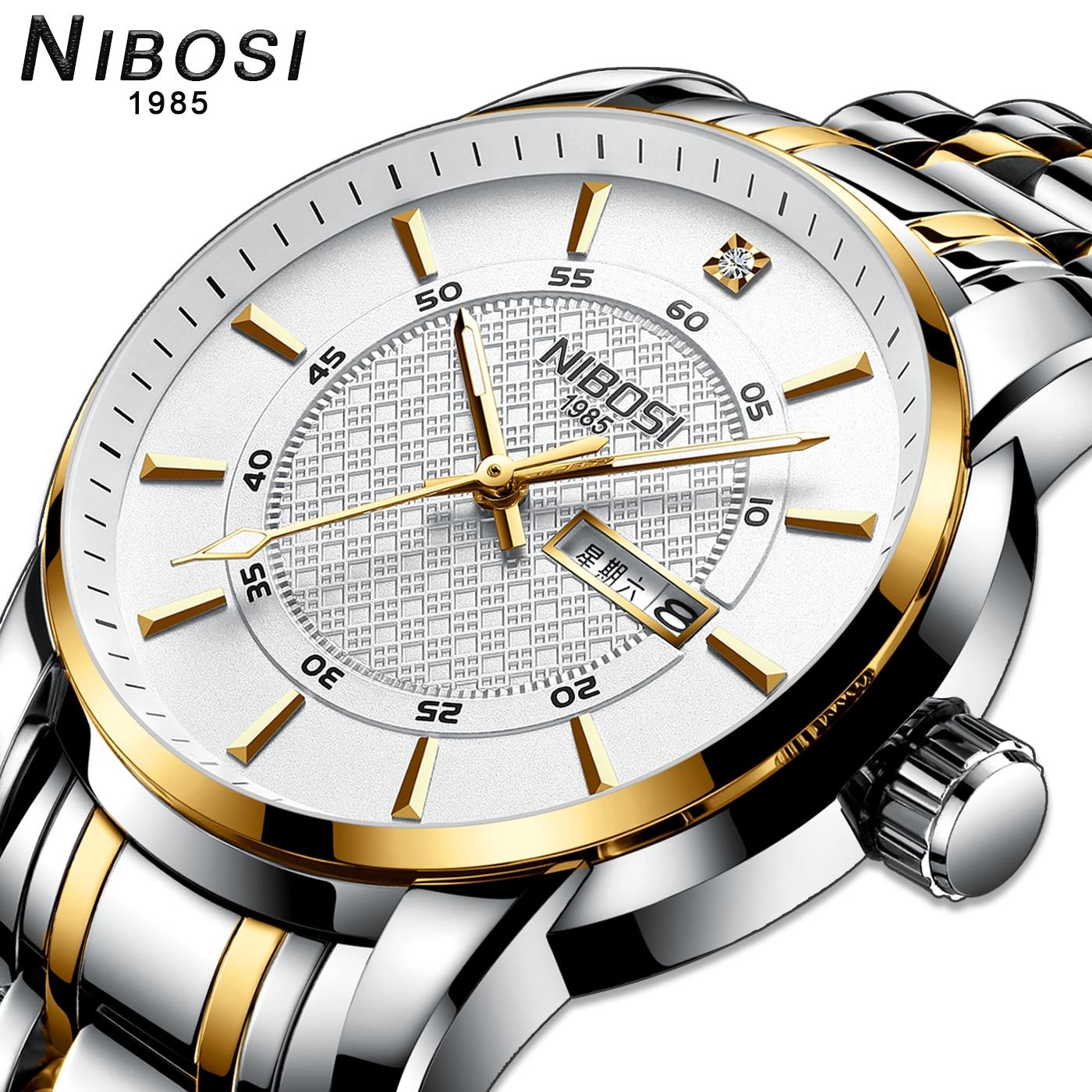 NIBOSI Clocks men's Quartz wrist watch men fashion watches tops Luxury brand business waterproof wristwatches Relogio Masculino