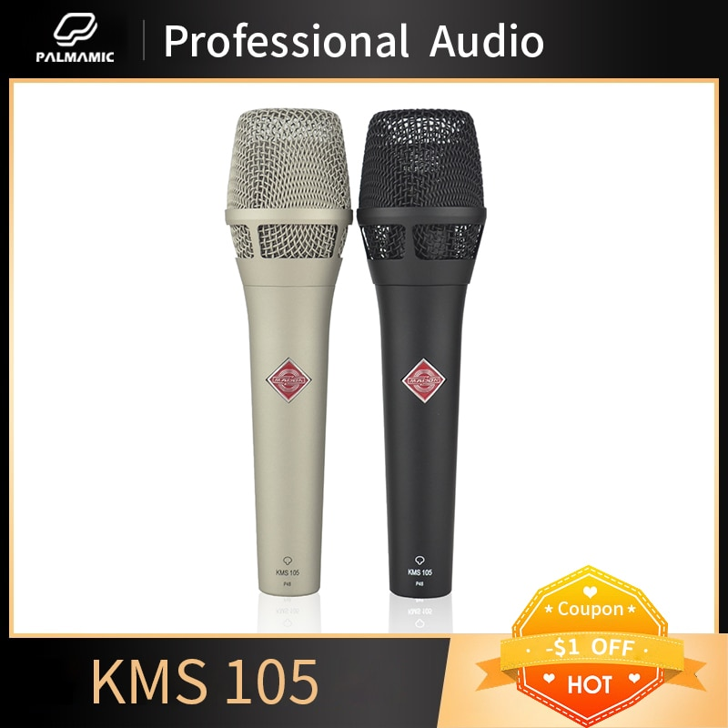 ميكروفون مهني KMS105 يده الصوتية مكثف ميكروفون القلب ميكروفون 48 فولت فانتوم الطاقة KMS105 ميكروفون